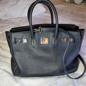Teddy blake buti black leather caty purse